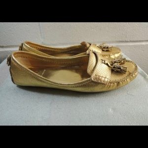 💛Tory Burch Gold Tassel Loafers💛